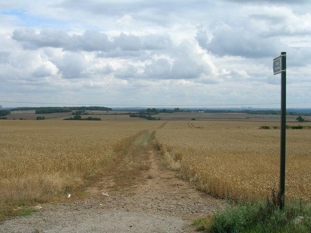 Bridleway towards Letwell