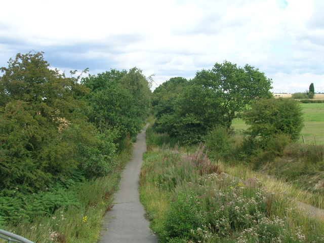 Cycle path on disused railway