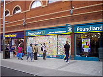 TQ3476 : Peckham's peace wall Rye Lane Peckham by PAUL FARMER