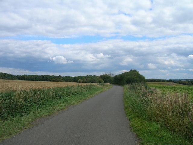 East Field Lane heading east