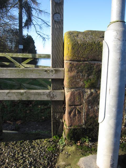 Bench mark on Holt/Farndon Bridge