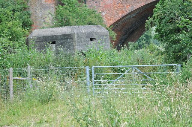 Pillbox below the railway