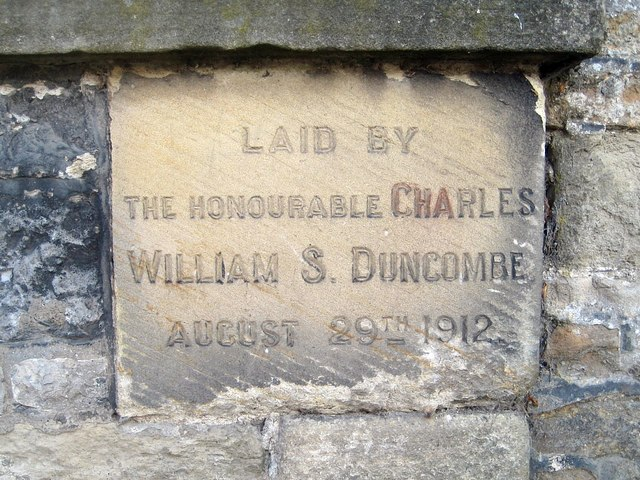 Library foundation stone