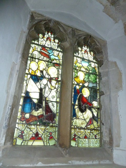 St Peter, Goodworth Clatford: stained glass window (1)