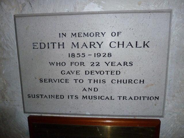 St Peter, Goodworth Clatford: memorial (II)
