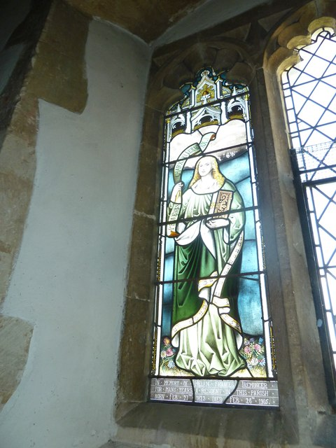 St Peter, Goodworth Clatford: stained glass window (2)