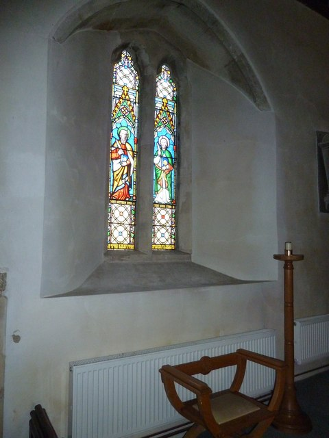 St Peter, Goodworth Clatford: stained glass window (4)