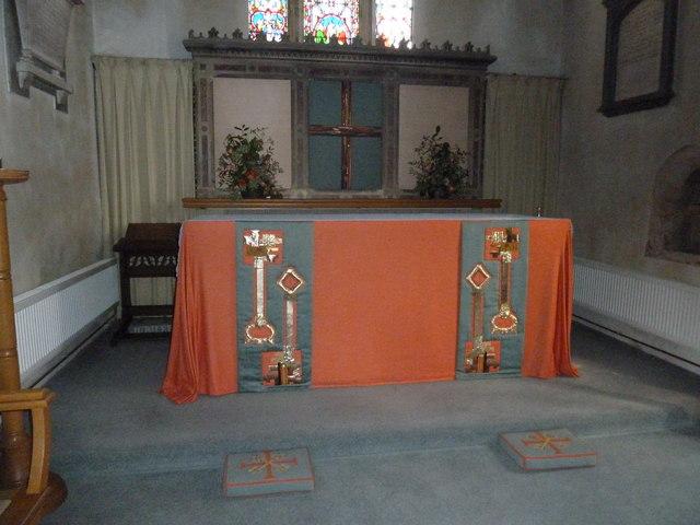 St Peter, Goodworth Clatford: altar