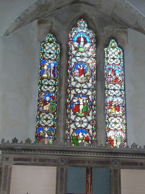 St Peter, Goodworth Clatford: stained glass window (5)