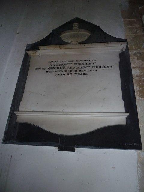 St Peter, Goodworth Clatford: memorial (III)