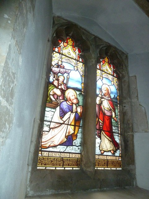 St Peter, Goodworth Clatford: stained glass window (8)