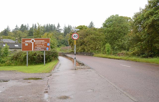 A83 at Lochgilphead