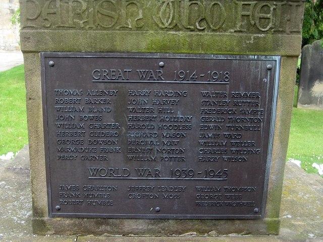 Kirkbymoorside War Memorial (2)
