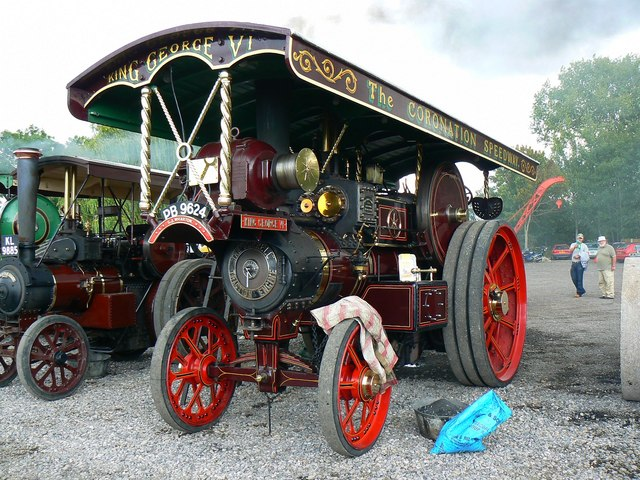Showman's traction engine, Swindon and Cricklade Railway, Blunsdon