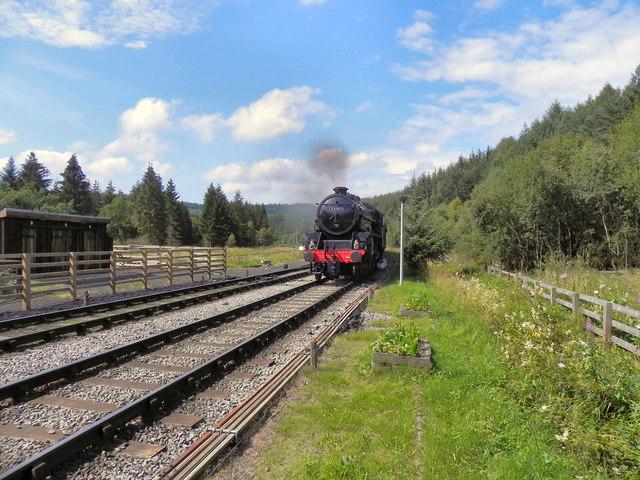 George Stephenson Approaching Levisham Station