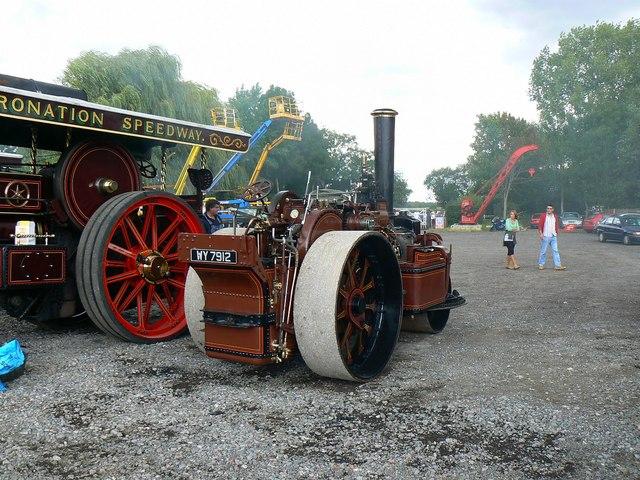 Fowler steam roller, Swindon and Cricklade Railway, Blunsdon