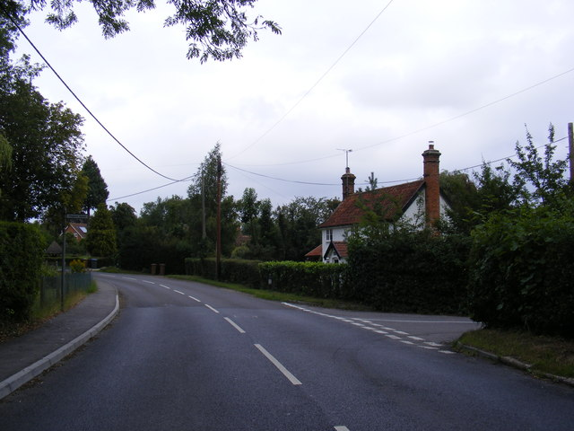 B1079 junction with road to Clopton Green