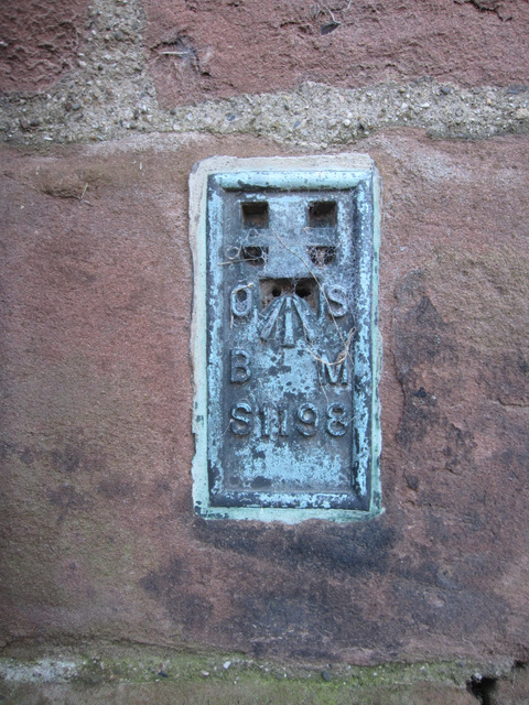 Flush bracket S1198 on St Chad's church tower