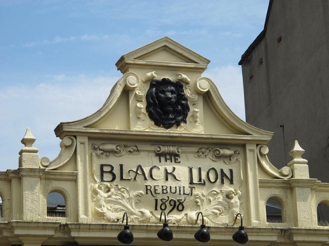 Sign for The Black Lion, Kilburn High Road, NW6