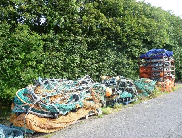 Fishing nets, Eyemouth Harbour