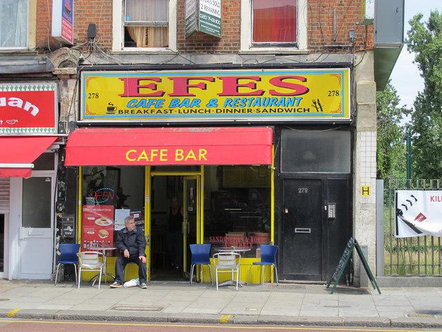 Efes Cafe Bar & Restaurant, Kilburn High Road, NW6