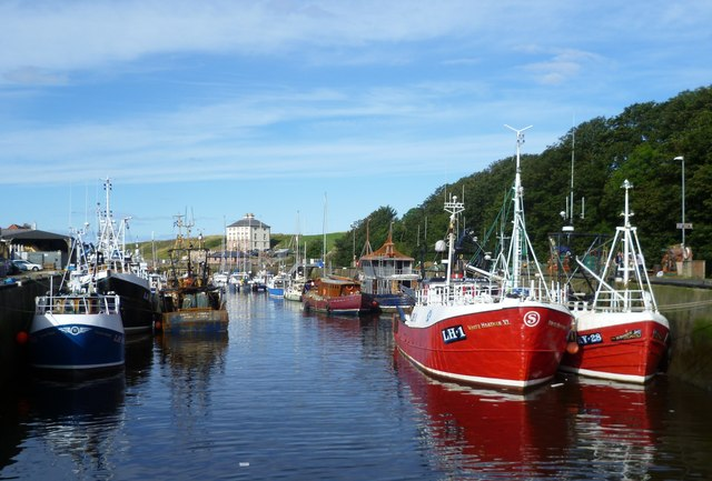 Eyemouth Harbour from the sluice