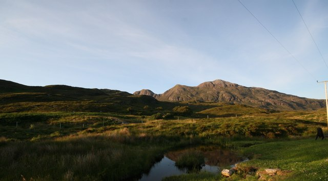 Quinag from the back of The Shepherds Cottage