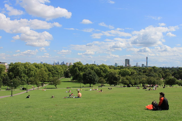 A sunny August afternoon on Primrose Hill NW1