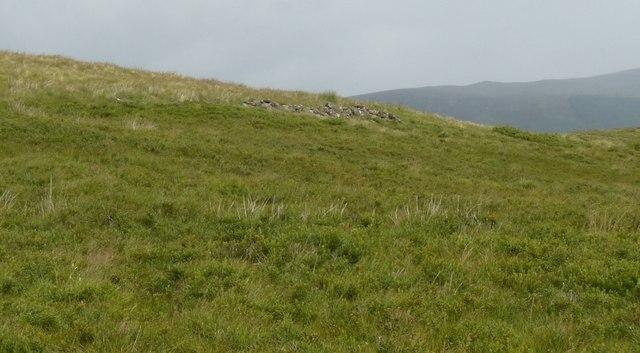 Hillside with sheiling ruins below Meall Dubh