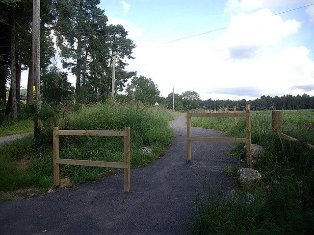New cycle path near Belhangie