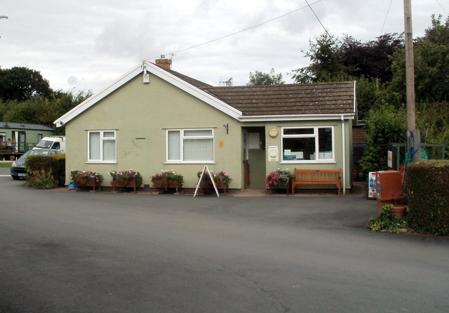 Reception office, Anchorage Caravan Park, Bronllys