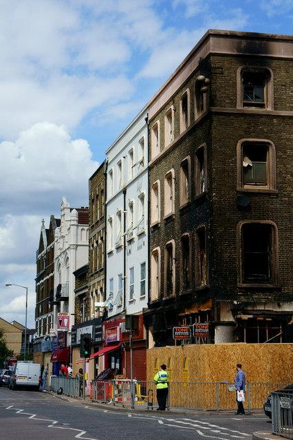 Croydon Riots - damage