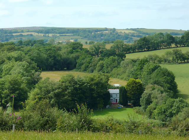 Farmland north of  Llwyn-y-Groes, Ceredigion