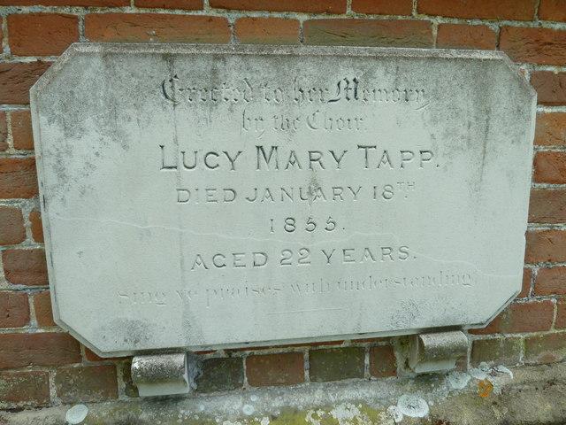 Abbotts Ann - St Mary: external wall memorial (b)