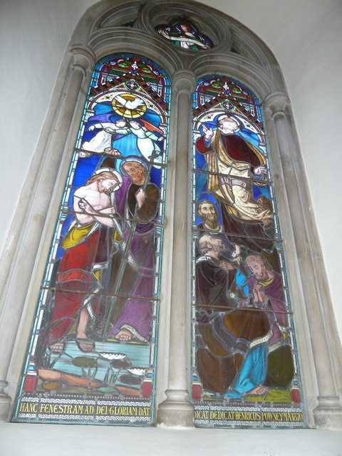 Abbotts Ann - St Mary: stained glass window (1)