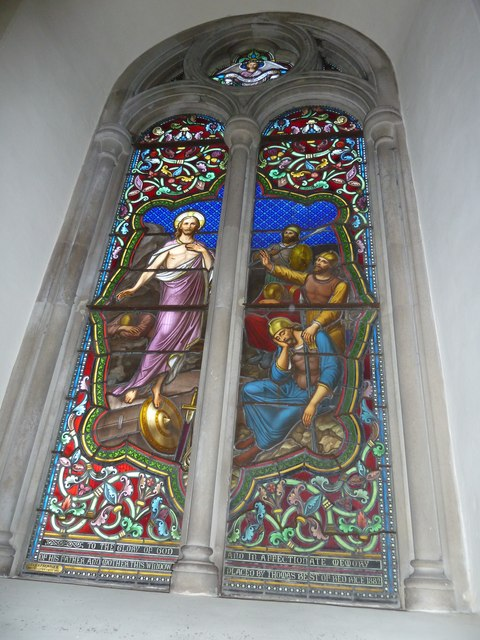 Abbotts Ann - St Mary: stained glass window (2)