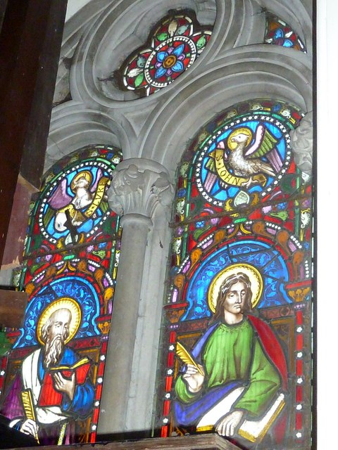 Abbotts Ann - St Mary: stained glass window (3)