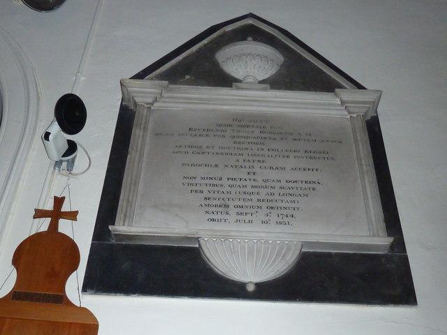 Abbotts Ann - St Mary: memorial (3)