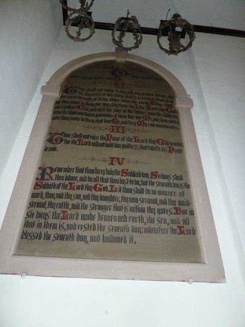 Abbotts Ann - St Mary: Ten Commandments