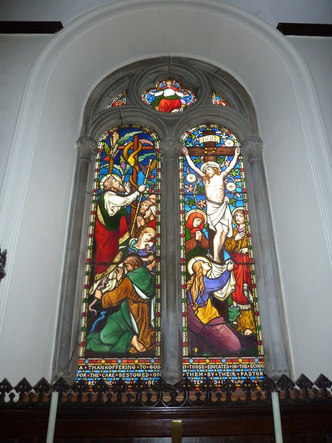 Abbotts Ann - St Mary: stained glass window (4)