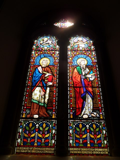 Abbotts Ann - St Mary: stained glass window (5)