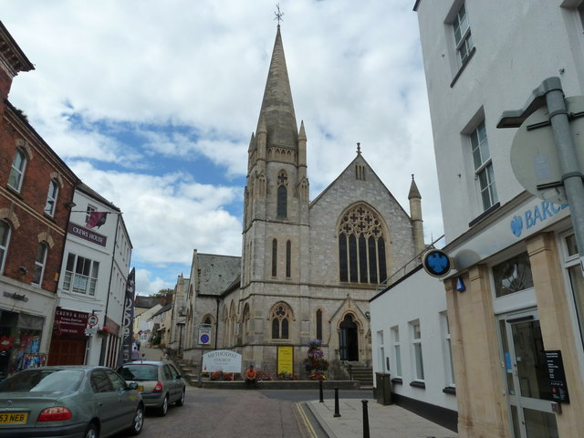 Methodist Church from Tower Street, Exmouth