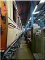 SU1090 : Inside the workshop, Hayes Knoll Station, Swindon and Cricklade Railway (1 of 3) by Brian Robert Marshall
