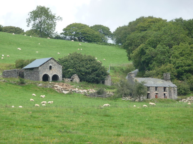 Ruined farm just north of Strata Florida