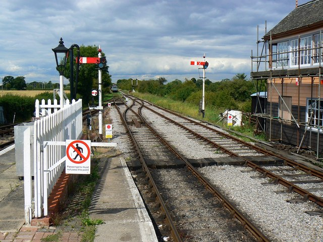 View north from Hayes Knoll Station, Swindon and Cricklade Railway