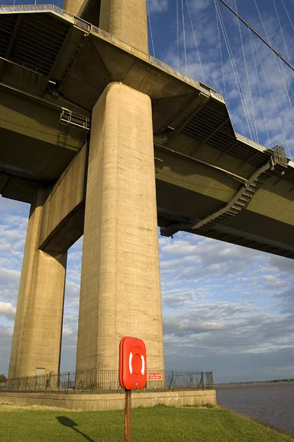 Base of the Humber Bridge tower