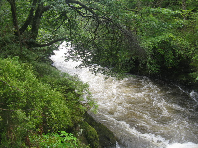 Turbulent flow in the Garbh Uisge