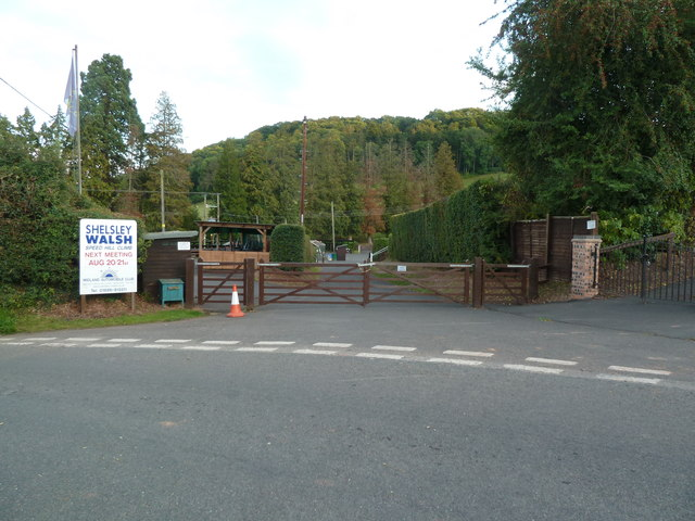 Entrance to the Shelsley Walsh Hill Climb