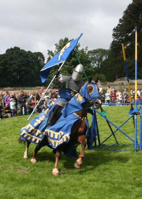 Blue Knight at Castle Fraser