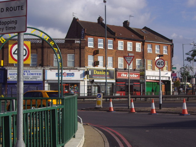 Neasden Lane at the junction of the North Circular Road